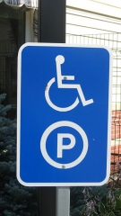 Handicap parking sign, Canada 2008, jpg