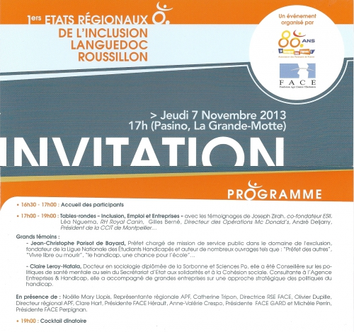 Etats régionaux inclusion, APF Languedoc